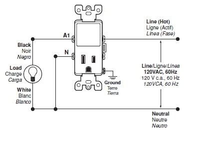 Leviton T5225 Wiring Diagram Switch by Wiring For The T5225 Switch Leviton Knowledgebase