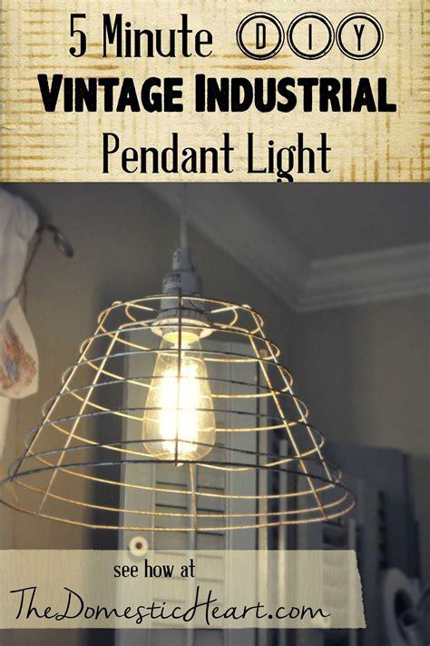 chandelier tutorial 5 minute diy vintage industrial pendant light tutorial