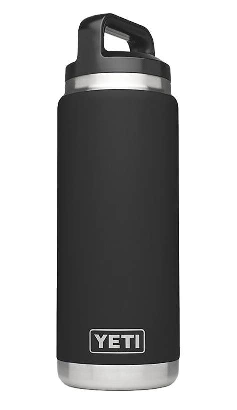 yeti black rambler  oz water bottle yrambbk