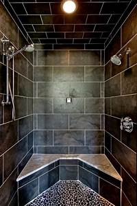 Landscaping Agreement Contemporary Black Shower With Marble Topped Bench Hgtv