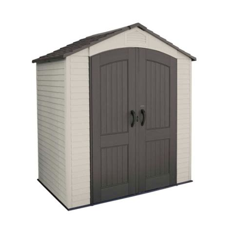 lifetime storage shed lifetime plastic storage shed 60057 7 ft x 4 5 ft outdoor
