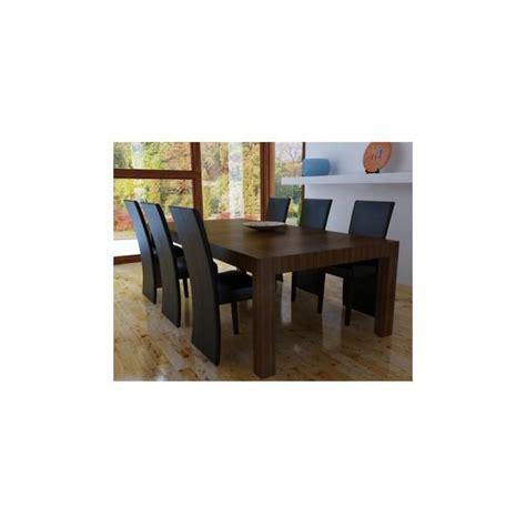 chaise en bois design chaise design bois noir lot de 6 achat vente chaise