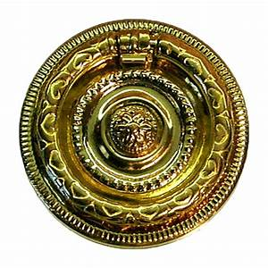 Round, Colonial, Revival, Brass, Ring, Pull