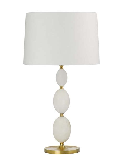 empire shade table l b313l brass alabaster bobble table l with empire shade