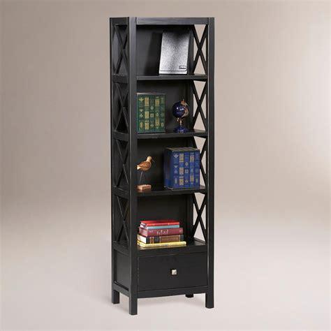 antiqued black tall easton bookshelf world market