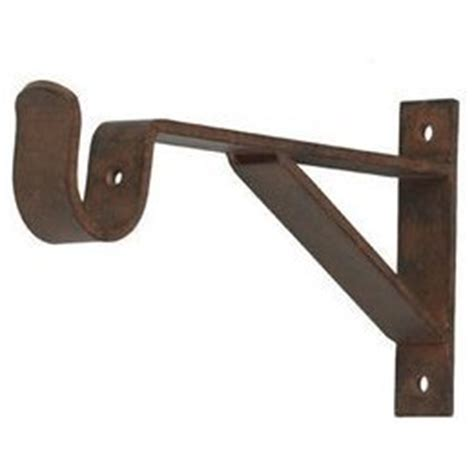 curtain rod bracket 6 inch projection for 1 inch metal pole