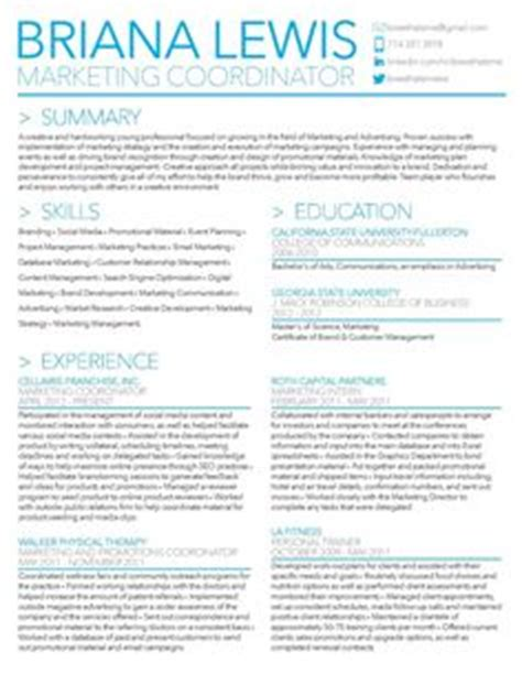 11865 creative marketing resumes 1000 ideas about marketing resume on resume