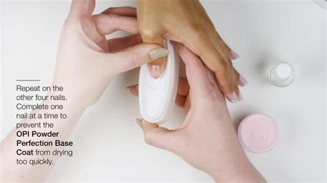 opi powder perfection nail dipping french tips youtube