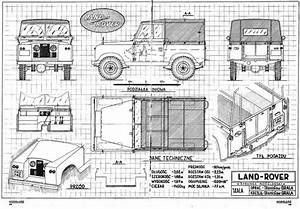 Technical Drawing Land Rover