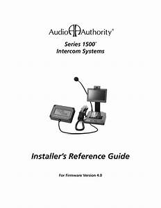 Series 1500 Installer S Reference Guide