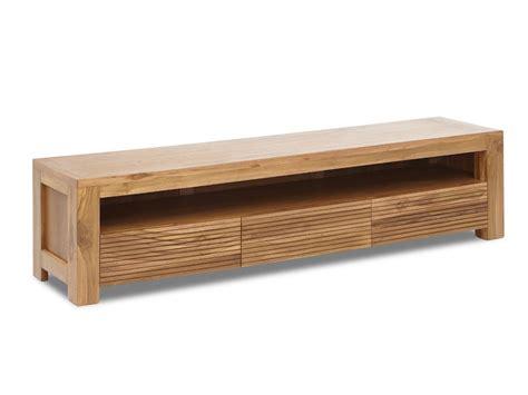cuisine prix bas meuble tv loft ii 1 niche 3 tiroirs teck massif