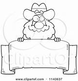 Miner Prospector Clipart Cartoon Coloring Chubby Banner Outlined Vector Parchment Freaking Cory Thoman sketch template