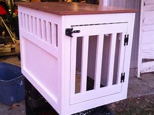 Ana white large wooden dog crate end table diy projects for Diy large dog kennel