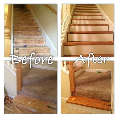 refinishing stairs  carpet removal   redo