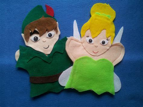 tinkerbell template felt peter pan and tinker bell puppets puppets