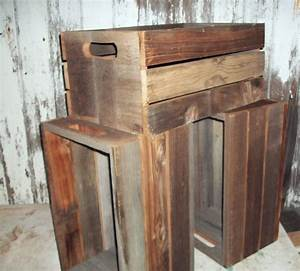 Antique primitive reclaimed wood barnwood crates shelf for Barnwood shelves for sale