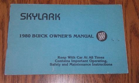free download parts manuals 1998 buick skylark electronic valve timing sell 1980 buick skylark owners manual 80 buick skylark owner s manual motorcycle in costa mesa