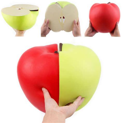 squishy 9 45in 24cm half apple green slow rising jumbo soft squishies soft stress
