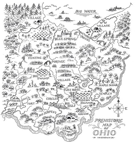 Prehistoric Map Of Ohio Ohio History Connection
