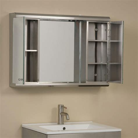 bathroom medicine cabinet mirror illumine dual stainless steel medicine cabinet with