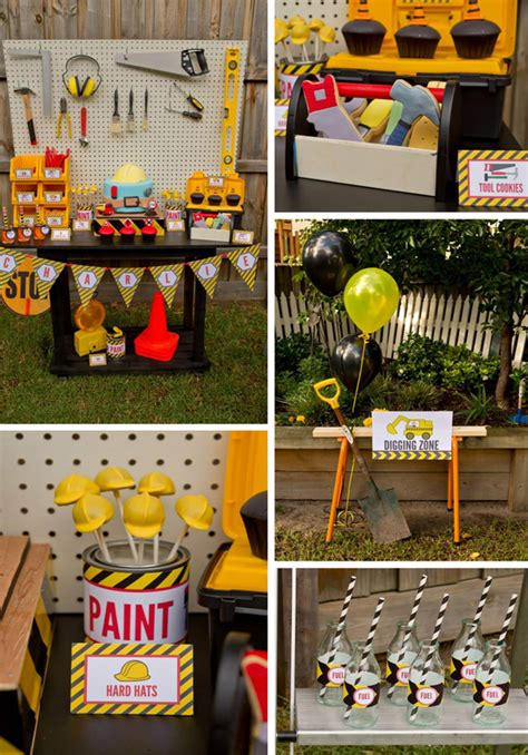 construction truck themed 1st birthday party planning ideas kara 39 s party ideas construction birthday party planning