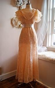 wedding dress 1930s wedding gown vintage 1930s peach With vintage 1930s wedding dresses