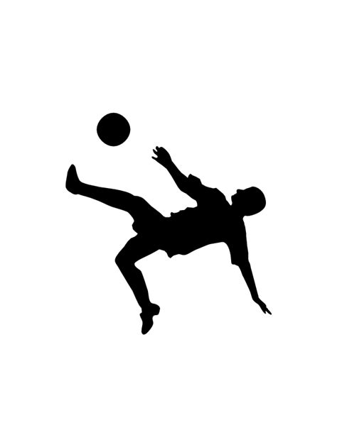 Soccer silhouettes - Vector stencils library | Football