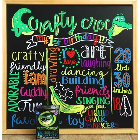 Best Chalk For Chalkboard Craftycroc Liquid Chalk Markers Best Gift For Crafters