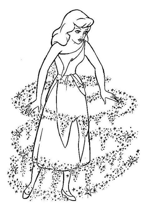 dessins de coloriage princesse cendrillon  imprimer