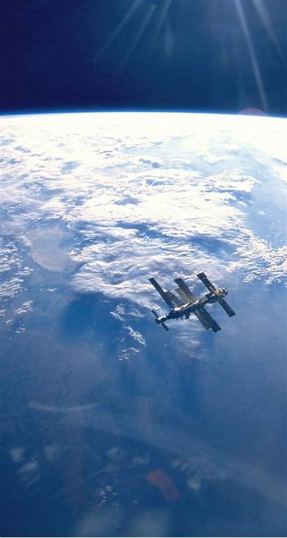 Space Station Mir Iss Earth Iphone Outer