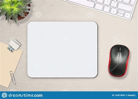 Tablet andsmartphone mockup with blank screen isolated on white background, concept mockup. Mouse Pad Mockup. White Mat On The Table With Props, Mouse ...