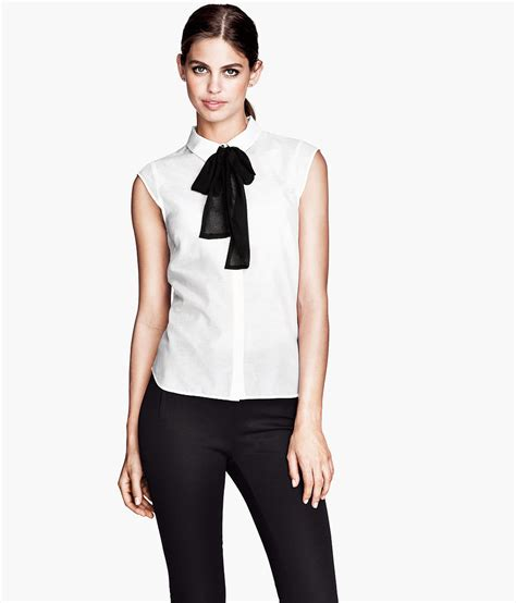bow neck blouse we can never resist a bow neck blouse or a bargain h m
