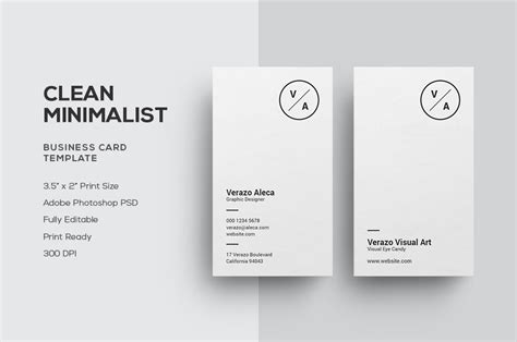 clean minimalist business card business card templates