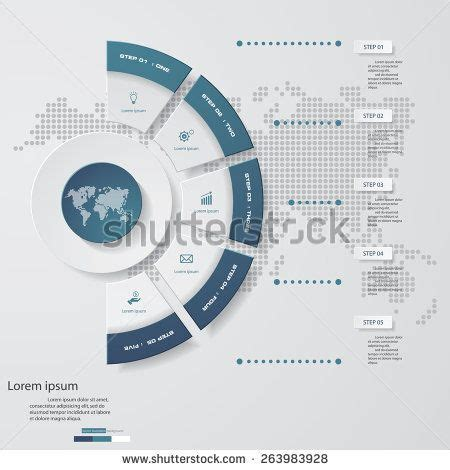 desarrollo web templat 5 steps chart template graphic or website layout vector
