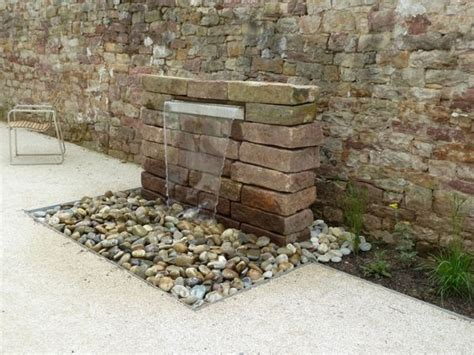 Brunnen Für Gartenmauergarten Wasserfall Mauer Naturstein