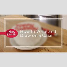 How To Write And Draw On A Cake Youtube