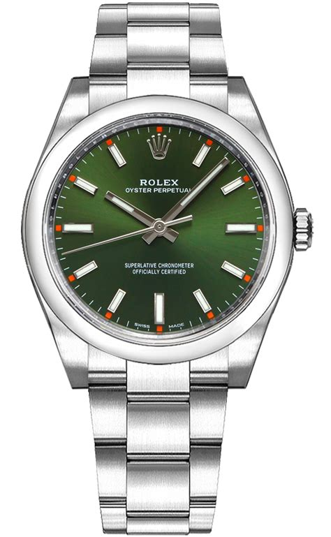 Rolex | Oyster Perpetual 114200 Green | AuthenticWatches.com