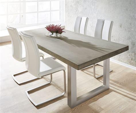 esstisch 4 stühle esstisch zement 200x100 grau beton optik gestell breit m 246 bel tische esstische