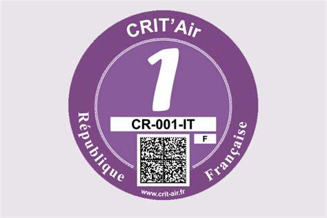 crit air 1 certificats qualit 233 de l air crit air minist 232 re de la transition 233 cologique et solidaire