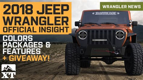 2018 Jeep Wrangler Jl Colors by New 2018 Jeep Wrangler Jl Details Leaked Colors Engine
