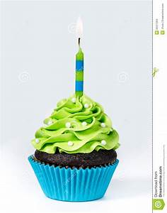 Birthday Cupcake Stock Photo - Image: 55311204