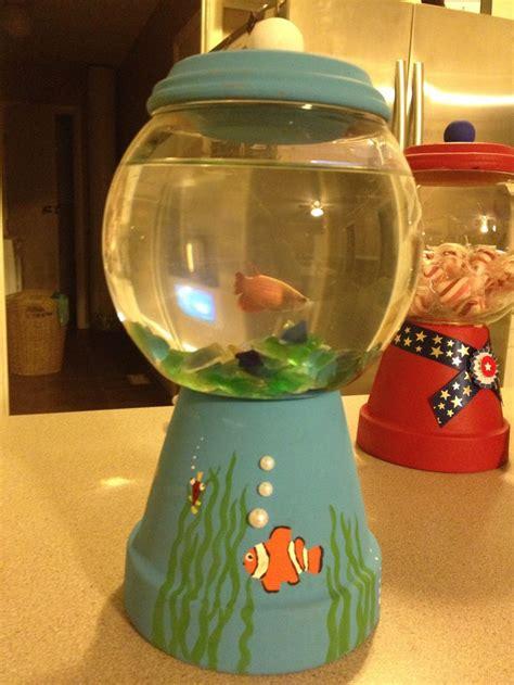 gum fish tank made from terra cotta pot terra cotta pots gum machines