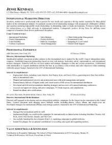 International Sales Marketing Manager Resume by Professional Resume Objectives Resume Template 2017
