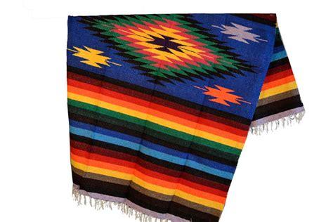 Eeezz0dgblu12  Mexikanische Indianer Decke