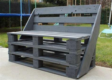 meuble fabrique avec des palettes 1001 id 233 es pour fabriquer un banc en palette charmant