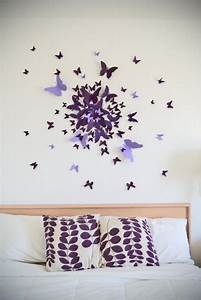 The butterfly effect 9 ideas of butterfly wall decor for What kind of paint to use on kitchen cabinets for 3d butterfly wall art diy