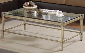 Modern coffee table with brass legs clear glass top for Glass coffee table with metal legs