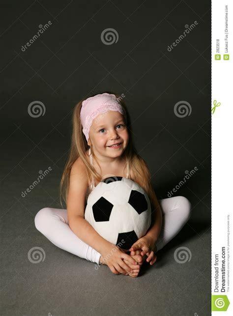 girl  soccer ball stock photo image