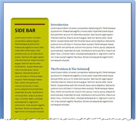 add  stylish sidebar text box   ms word