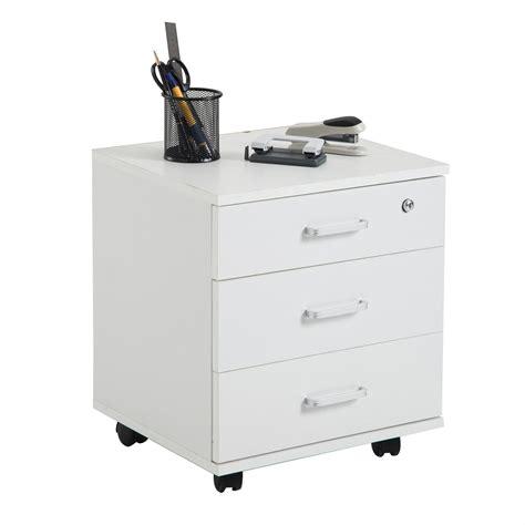 bureau sur roulettes caisson de bureau rangement sur roulettes 3 tiroirs 3